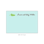 Sweet Peas Custom Thank You Card by Take Note Designs