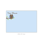 Blue Owl 3 Custom Thank You Card by Take Note Designs