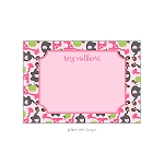 Girlie Zoo Animals Custom Thank You Card by Take Note Designs