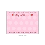 Little Ladybugs Custom Thank You Card by Take Note Designs