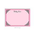Pink Framed Custom Thank You Card by Take Note Designs