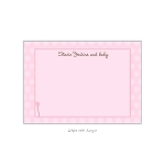 Pink Wand Custom Thank You Card by Take Note Designs