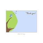 Blue Egg Custom Thank You Card by Take Note Designs