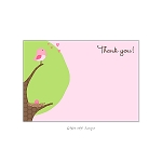 Pink Egg Custom Thank You Card by Take Note Designs