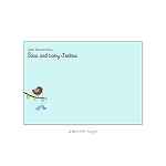 Blue Booties Custom Thank You Card by Take Note Designs