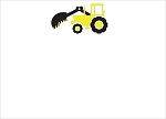 Yellow Tow Truck Custom Thank You Card
