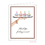 Cupcake Custom Folded Thank You Card by Bonnie Marcus