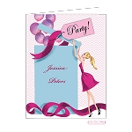 Blonde Party Girl Custom Folded Thank You Card by Bonnie Marcus