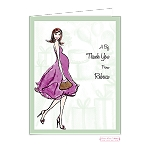 Chic Mom-to-Be Custom Folded Thank You Card by Bonnie Marcus