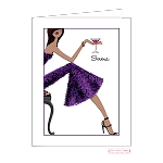 Multicultural Female Custom Folded Thank You Card by Bonnie Marcus