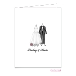 Bridal Attire Custom Folded Thank You Card by Bonnie Marcus