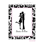 Couple's Silhouette Custom Folded Thank You Card by Bonnie Marcus