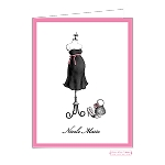 Pink Sash Custom Folded Thank You Card by Bonnie Marcus