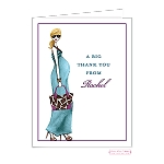 Blonde Chic Mom Custom Folded Thank You Card by Bonnie Marcus