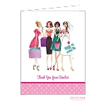Bridal Party Custom Folded Thank You Card by Bonnie Marcus