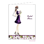 Brunette Bride Custom Folded Thank You Card by Bonnie Marcus