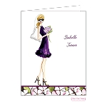 Blonde Bride Custom Folded Thank You Card by Bonnie Marcus