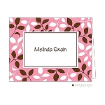 Pink Floral 2 Custom Folded Thank You Card by Stacy Claire Boyd
