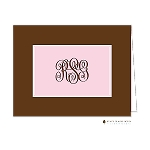 Brown and Pink Custom Folded Thank You Card by Stacy Claire Boyd