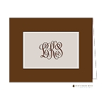 Brown and Tan Custom Folded Thank You Card by Stacy Claire Boyd