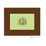 Brown and Green Custom Folded Thank You Card by Stacy Claire Boyd