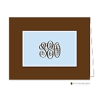 Brown and Blue Custom Folded Thank You Card by Stacy Claire Boyd