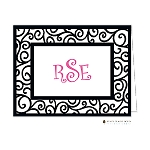 Black Iron Scroll Custom Folded Thank You Card by Stacy Claire Boyd