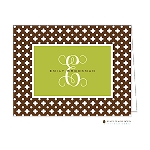 Brown Fenced Custom Folded Thank You Card by Stacy Claire Boyd