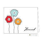 Sketched Flowers Custom Folded Thank You Card by Stacy Claire Boyd