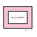 Pink and Black Custom Folded Thank You Card by Stacy Claire Boyd