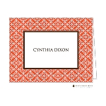 Orange Damask Custom Folded Thank You Card by Stacy Claire Boyd
