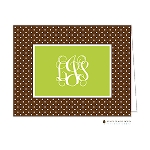 Black and Lime Custom Folded Thank You Card by Stacy Claire Boyd