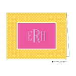 Yellow and Pink Custom Folded Thank You Card by Stacy Claire Boyd