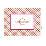 Bright Stripes Custom Folded Thank You Card by Stacy Claire Boyd