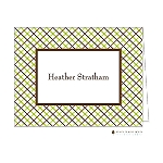 Bright Green Stripes Custom Folded Thank You Card by Stacy Claire Boyd