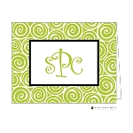 Lime Swirls Custom Folded Thank You Card by Stacy Claire Boyd
