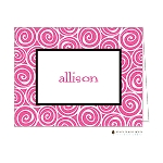 Pink Swirls Custom Folded Thank You Card by Stacy Claire Boyd