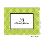 Lime Lattice Custom Folded Thank You Card by Stacy Claire Boyd