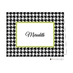 Black Houndstooth with Lime Custom Folded Thank You Card by Stacy Claire Boyd
