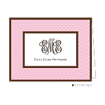 Pink Dots 2 Custom Folded Thank You Card by Stacy Claire Boyd