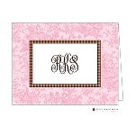 Pink Patterned Custom Folded Thank You Card by Stacy Claire Boyd