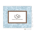 Blue Patterned Custom Folded Thank You Card by Stacy Claire Boyd
