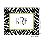 Zebra Custom Folded Thank You Card by Stacy Claire Boyd