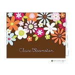 Full Bloom Floral Custom Folded Thank You Card by Stacy Claire Boyd