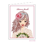 Vintage Bride Custom Folded Thank You Card by Bonnie Marcus