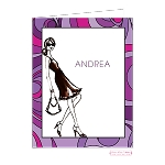 Chic Retro Custom Folded Thank You Card by Bonnie Marcus