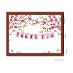 Pink Banner Custom Folded Thank You Card by Bonnie Marcus
