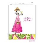 Margherita Girl Custom Folded Thank You Card by Bonnie Marcus