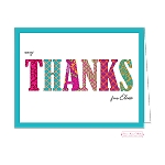 Multipatterned Custom Folded Thank You Card by Bonnie Marcus