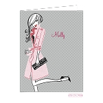 Chic in Pink Custom Folded Thank You Card by Bonnie Marcus